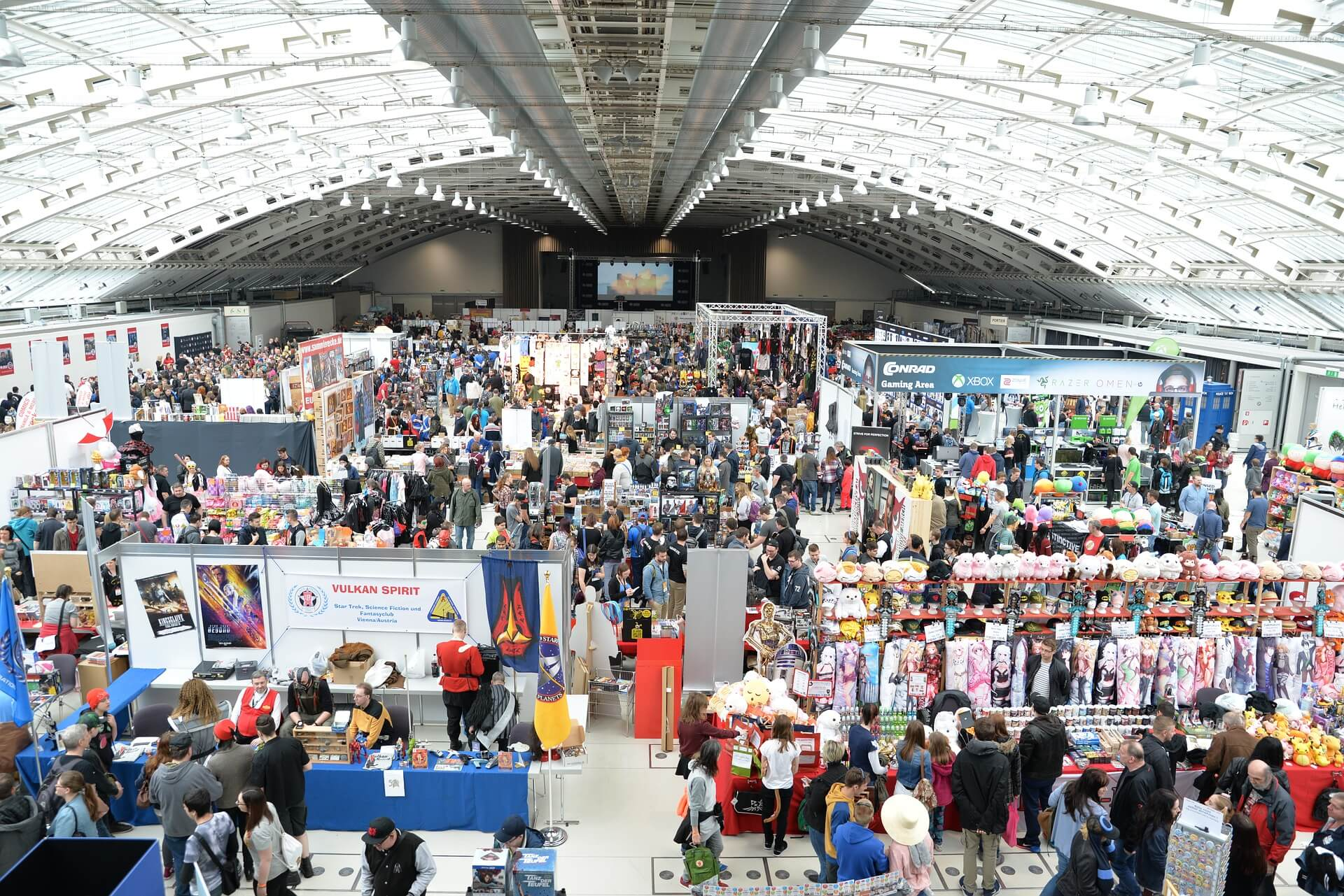 Top view of a comic convention