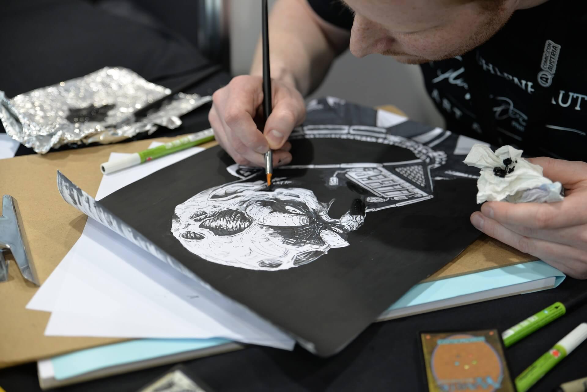 Artist at ComicCon